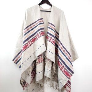 Merona • Tribal Print Poncho Scarf Wrap